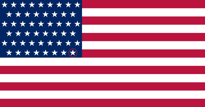 51 Stars American Flag