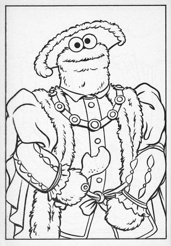 sesame street coloring book henry viii - Sesame Street Coloring Book