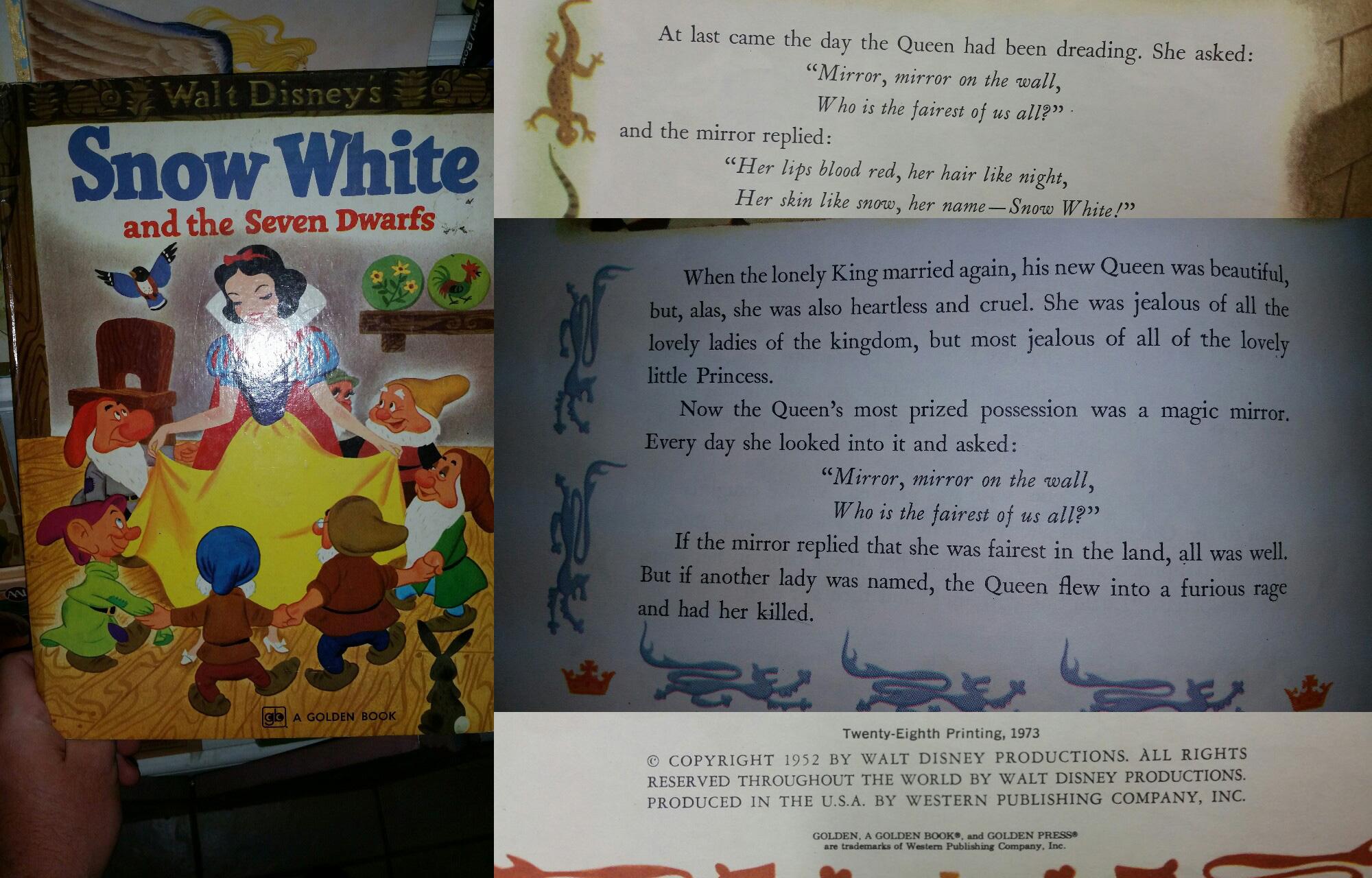 1973 Disney Book Showing Mirror